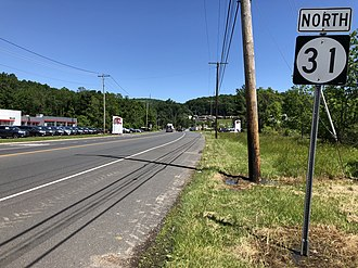 Lebanon Township, New Jersey - Route 31 northbound in Lebanon Township