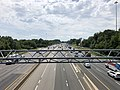2019-06-24 14 47 51 View south along Interstate 95 from the overpass for Virginia State Route 123 (Gordon Boulevard) in Woodbridge, Prince William County, Virginia.jpg
