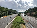 2019-07-05 09 15 36 View north along Interstate 95 and Interstate 495 (Capital Beltway) from the overpass for Temple Hill Road on the edge of Temple Hills and Marlow Heights in Prince George's County, Maryland.jpg