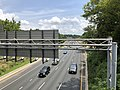2019-07-11 13 45 51 View east along the westbound lanes of Interstate 495 (Capital Beltway) from the overpass for Maryland State Route 355 (Rockville Pike) in Bethesda, Montgomery County, Maryland.jpg