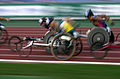 211000 - Athletics wheelchair racing 10km heat Australian athlete photographic effects - 3b - 2000 Sydney race photo.jpg