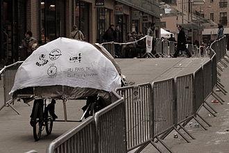 Université catholique de Louvain - A fanciful bike float at the 24h vélo de Louvain-la-Neuve