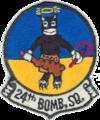 24th Bombardment Squadron - B-36- Emblem.png