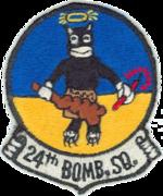 24th Bombardment Squadron - B-36- Emblem