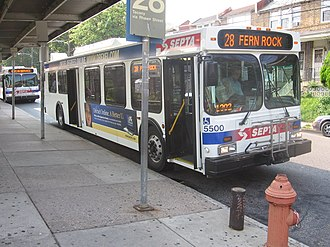 Fern Rock Transportation Center - Image: 28Bus