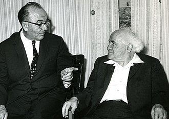 Levi Eshkol - Eshkol and Ben-Gurion, June 1963
