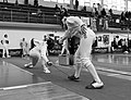 2nd Leonidas Pirgos Fencing Tournament. The fencer Nikos Xynos scores a foot touch.jpg