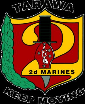 2nd Marine Regiment (United States) - 2nd Marines Insignia