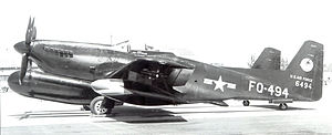 McChord Field - 319th Fighter Squadron (All Weather) North American F-82F Twin Mustang 46-494 at McChord AFB, Washington, October 1949