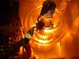 Tetrode - 4-1000A 1 KW power tetrode in an amateur radio transmitter