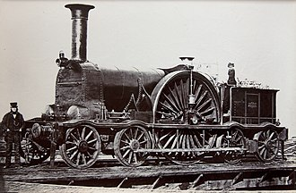 4-2-4T - Pearson 4-2-4T no. 44 of the Bristol and Exeter Railway, c. 1854