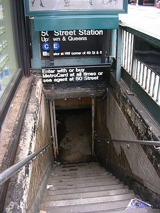 50th Street (IND Eighth Avenue Line) - Street stair