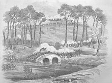 Burnside's Bridge, a contested site at the Battle of Antietam