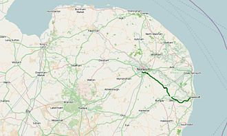 A146 road - Image: A146 road map