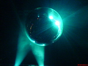 A picture I took of the disco ball in the main...