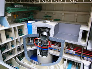 Generation III reactor - Model of the Toshiba ABWR, which became the first operational Generation III reactor in 1996.