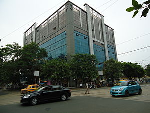 AJC Bose Road & APC Road - Diamond Prestige, an office block on AJC Bose Road - houses a 'Jaguar' showroom