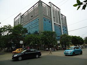AJC Bose Road & APC Road - Diamond Prestige, an office block on AJC Bose Road - houses a 'Jaguar' showroom