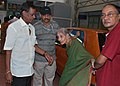 A 92 year old lady at PSBB School polling booth of Chennai Central Parliamentary Constituency for casting her vote during the 5th and final phase of General Election-2009, on May 13, 2009.jpg