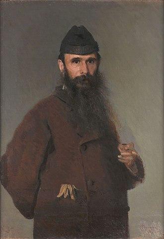 Alexander Litovchenko - Portrait by Ivan Kramskoi (1878)