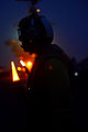 A Sailor aboard USS John C. Stennis at night3.jpg
