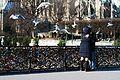 A couple on the Pont de l'Archevêché, Paris February 2012.jpg