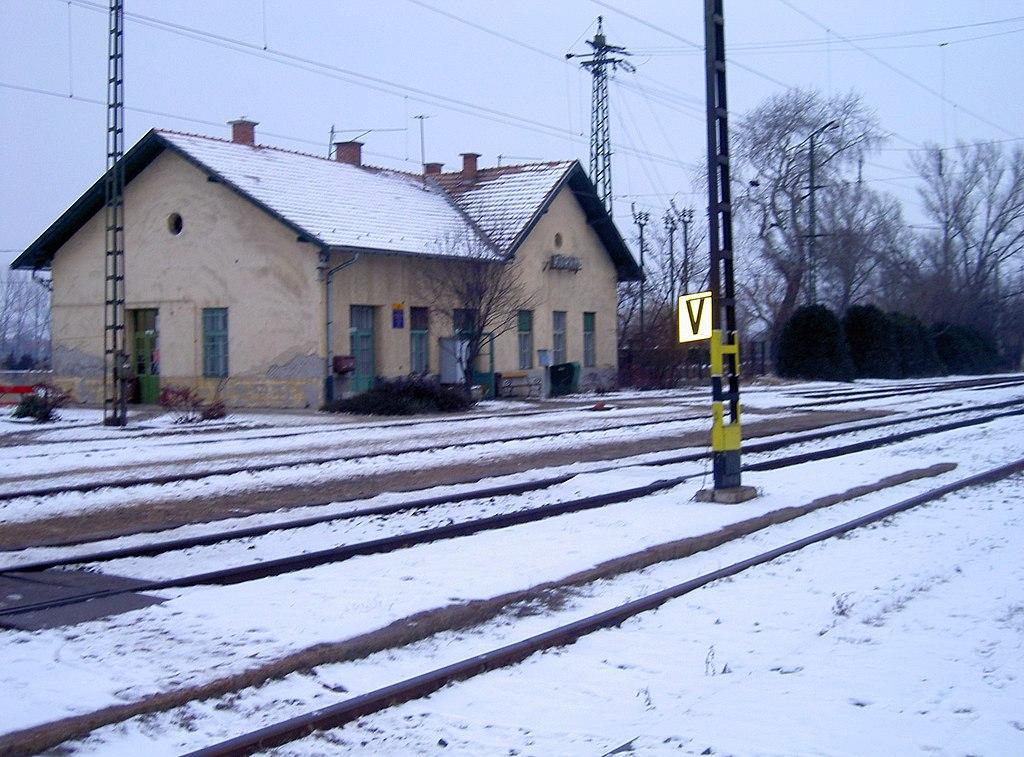 A környei vasútállomás