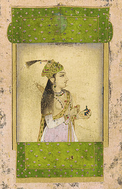 A noble lady, Mughal dynasty, India. 17th century