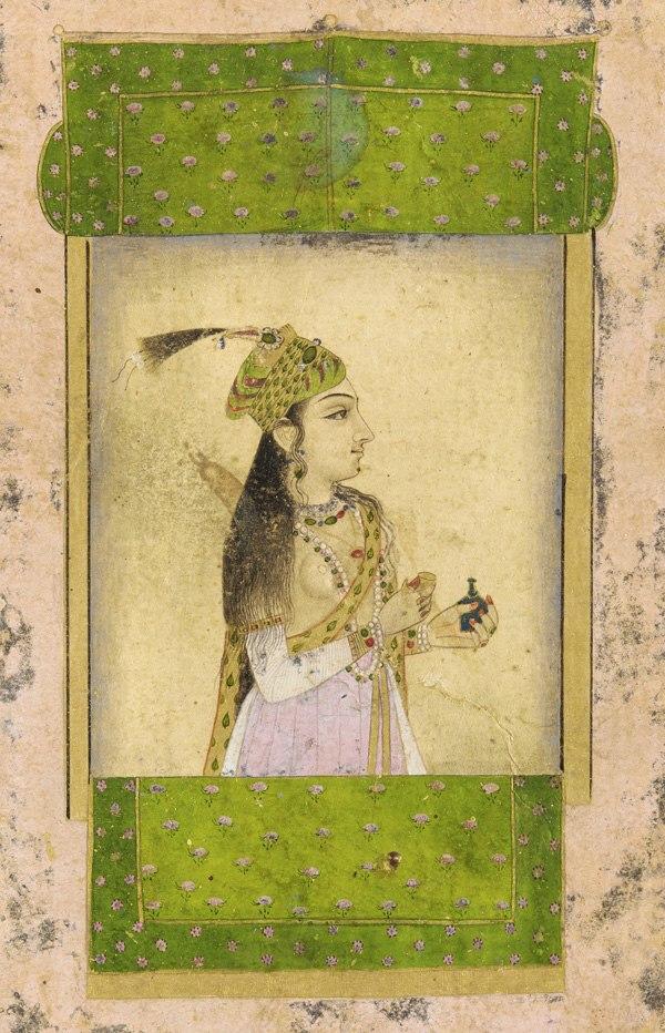 A noble lady, Mughal dynasty, India. 17th century