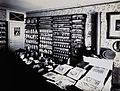 A pharmaceutical laboratory with books and equipment on a lo Wellcome V0029790.jpg