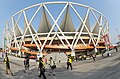 A view of the Jawaharlal Nehru Stadium, the main venue of the inauguration of 19th Commonwealth Games Delhi-2010, in New Delhi on October 03, 2010.jpg