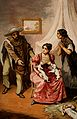A woman breast feeding two puppies whilst two Mexican peasants implore her to feed their baby Wellcome V0015049.jpg