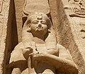 Abu Simbel temple queen pavilion maidservant statue.jpg