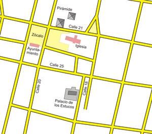 Mapa chichén itzá