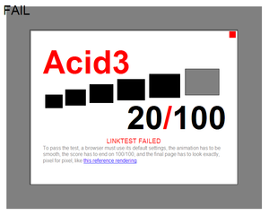 Acid3 - Image: Acid 3ie 8rc 1