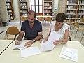 Acte de signatura del conveni marc de col·laboració entre Amical Wikimedia i el Col·legi de Bibliotecaris i Documentalistes de la Comunitat Valenciana 02.jpg