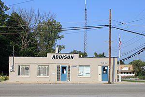 Addison, Michigan - Addison Village Hall and Library
