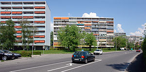 Meyrin - Apartment blocks in Meyrin