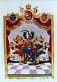 Adelsdiplom - Capdebo de Baraczhaza 1802 - Wappen.jpg