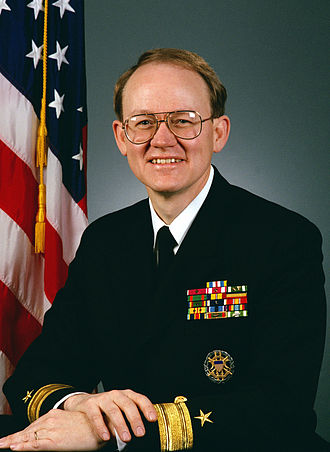 John Michael McConnell - McConnell as a Rear Admiral, 1990.