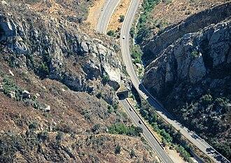 Gaviota Tunnel - Aerial view of Gaviota Tunnel
