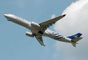 SkyTeam - Aeroflot Airbus A330 departs London Heathrow Airport (2014)