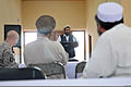 Afghan leaders listen as speakers discuss local concerns in Nangarhar province, Afghanistan, Aug. 21, 2010, during an Iftar, the ceremony for breaking fast during Ramadan 100821-A-RN448-082.jpg