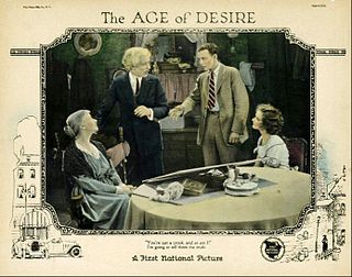 <i>The Age of Desire</i> 1923 film by Frank Borzage