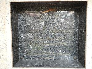 Felipe Agoncillo - Felipe Agoncillo (grave in Cemetery adjoining Sancutario de Santo Cristo, San Juan, Metro Manila).