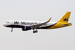 Airbus A320-200 der Monarch Airlines