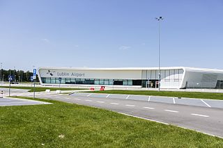 airport serving the city of Lublin, located in Świdnik