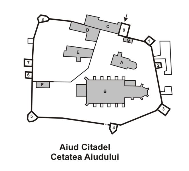 Fișier:Aiud citadel plan.png