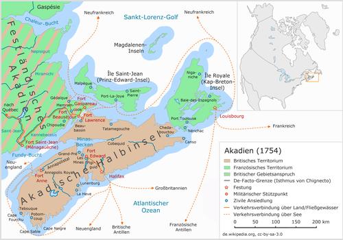 Akadien 1754