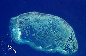 Scorpion Reef - ISS image of Scorpion Reef